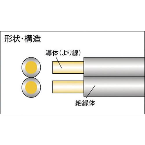 正和電工SeiwaDenko平行線VFFビニールコード10m灰グレーFF10BS