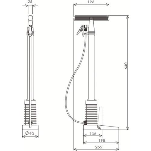 フルプラFURUPLAダイヤポンプ空気入れ減圧タンク付きダークブルー900DB