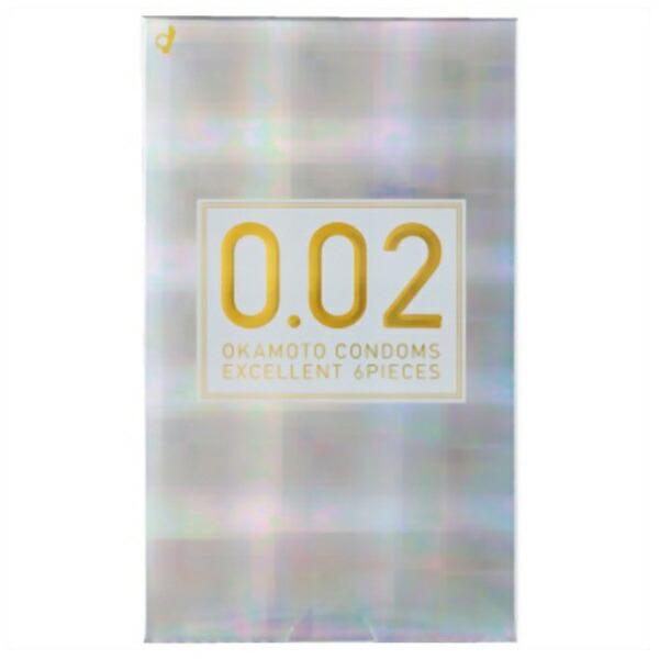 オカモトokamoto薄さ均一002EXナチュラル6個入り<コンドーム>〔避妊用品〕[0.02EX]