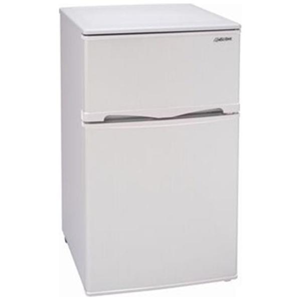 アビテラックスAbitelax《基本設置料金セット》AR-100E-W冷蔵庫ホワイトストライプ[2ドア/右開きタイプ/96L][AR100EW冷蔵庫一人暮らしおすすめ新生活家電]