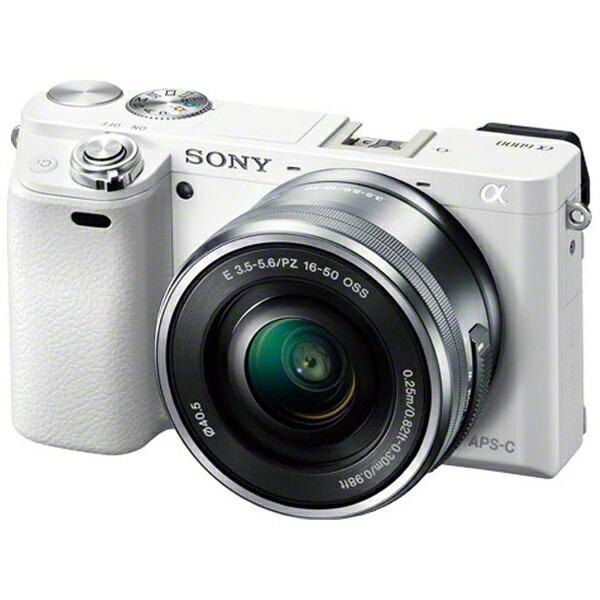 ソニーSONYILCE-6000L-Wミラーレス一眼カメラパワーズームレンズキットα6000ホワイト[ズームレンズ][ILCE6000LW]