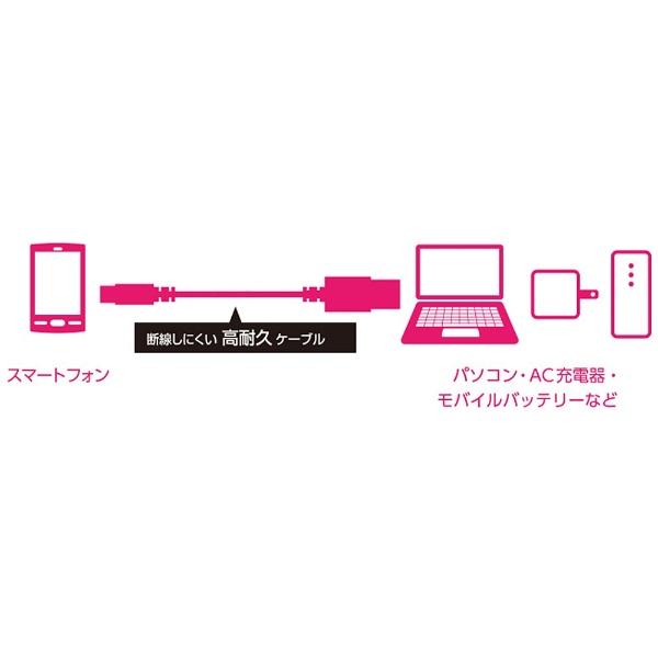 エレコムELECOM[microUSB]USBケーブル充電・転送2A(0.8m・ブルー)MPA-AMBS2U08BU[0.8m]