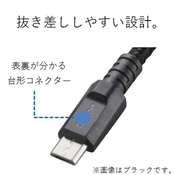 エレコムELECOM[microUSB]USBケーブル充電・転送2A(0.8m・ブラック)MPA-AMBS2U08BK[0.8m]