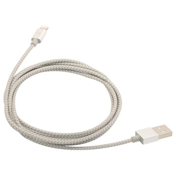 F.S.C.藤本電業[ライトニング]ケーブル充電・転送2.4A(1.5m・シルバー)MFi認証CK-LA01SV[1.5m][CKLA01SV]