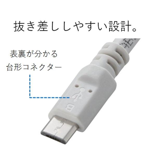 エレコムELECOM[microUSB]充電USBケーブル2A(1.2m・ホワイト)MPA-AMBC2U12WH[1.2m][MPAAMBC2U12WH]