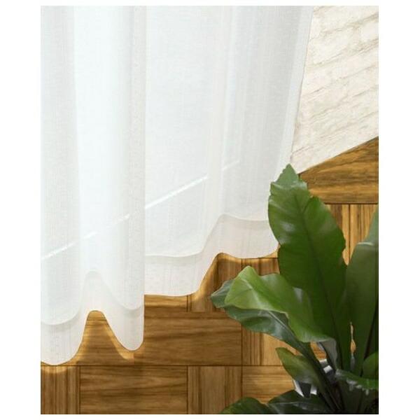 スミノエSUMINOEレースカーテンロワール(100×133cm/ナチュラルホワイト)【日本製】[V1811100X133]