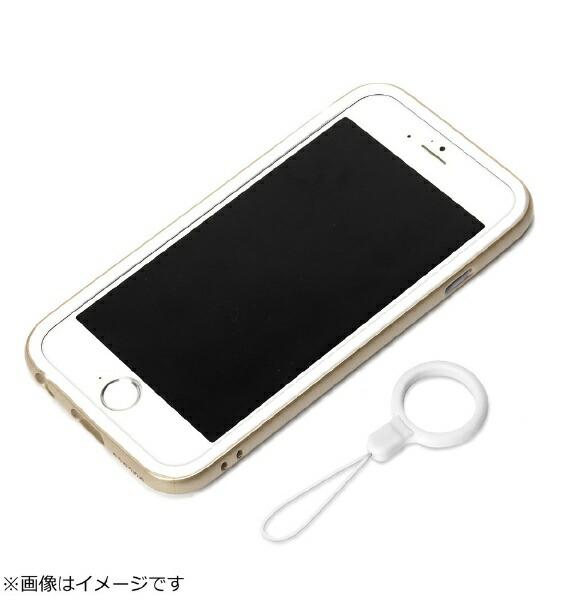 PGAiPhone6用ハイブリッドバンパーリングストラップ付ゴールドPG-I6BP07GD[PGI6BP07GD]