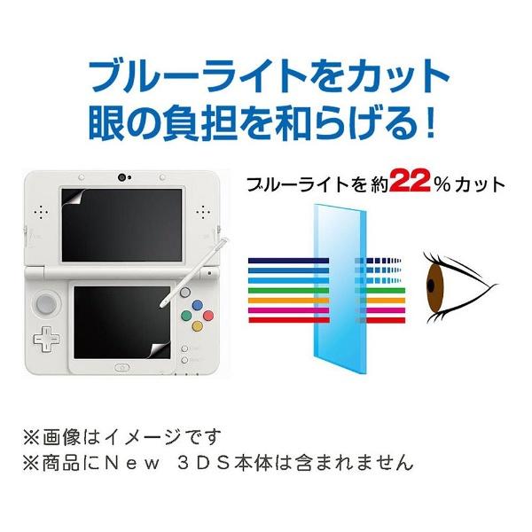 アクラスNew3DS用ブルーライト液晶画面フィルター(気泡吸収タイプ)【New3DS】