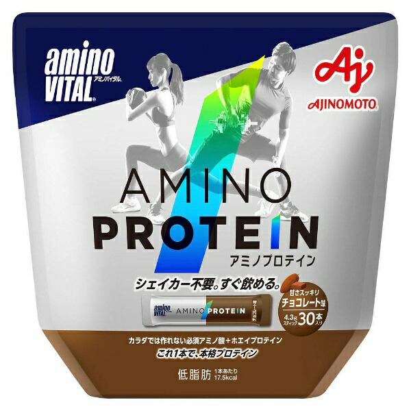 味の素AJINOMOTOaminoVITAL【チョコレート風味/30本入りパウチ】16AM2770
