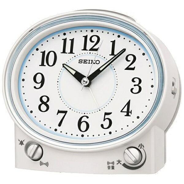 セイコーSEIKO目覚まし時計白パールKR892W[アナログ]