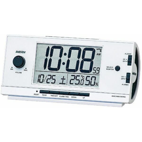 セイコーSEIKO目覚まし時計【RAIDEN(ライデン)】白パールNR534W[デジタル/電波自動受信機能有][目覚まし時計電波大音量デジタル]