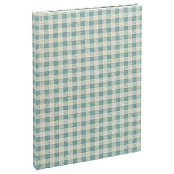 ナカバヤシNakabayashiB5サイズブック式フリーアルバム/100年台紙ナチュラルチェック(ブルー)アH-B5B-172-B[アHB5B172B]