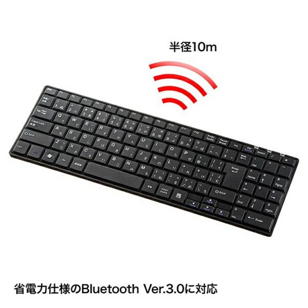サンワサプライSANWASUPPLY【スマホ/タブレット対応】ワイヤレスキーボード[Bluetooth3.0・Android/Win]スリム充電式(102キー・ブラック)SKB-BT22BK[SKBBT22BK]