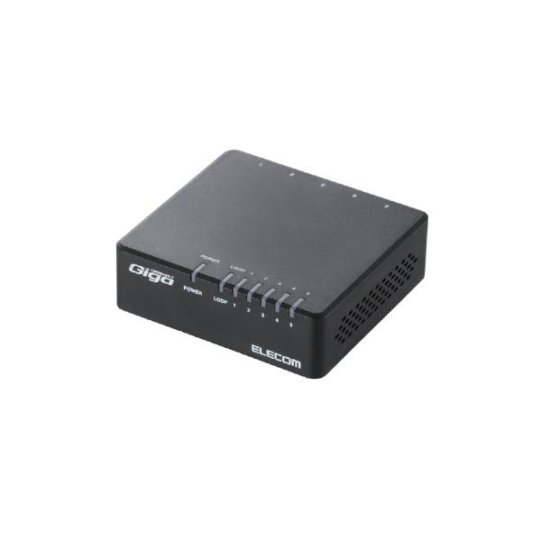 エレコムELECOMスイッチングハブ(5ポート・Gigabit対応・ACアダプタ)エコ省電力タイプ(ブラック)EHC-G05PA-B-K[EHCG05PABK]