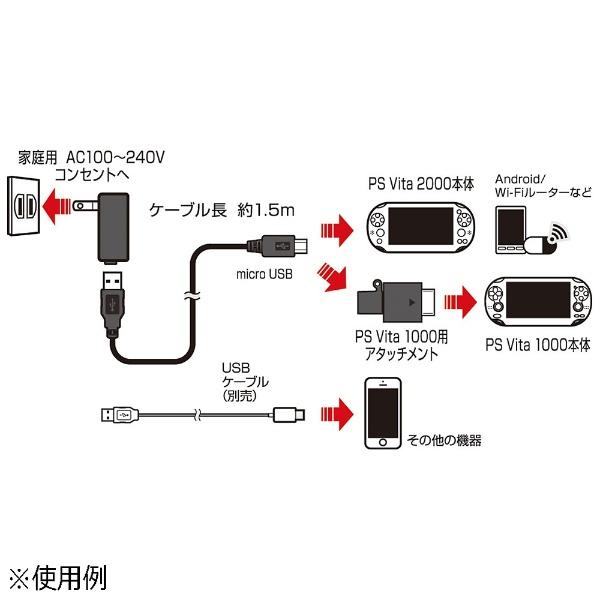 アクラスPSVita2000/1000用USBACアダプタVer.2【PSV(PCH-1000/2000)】