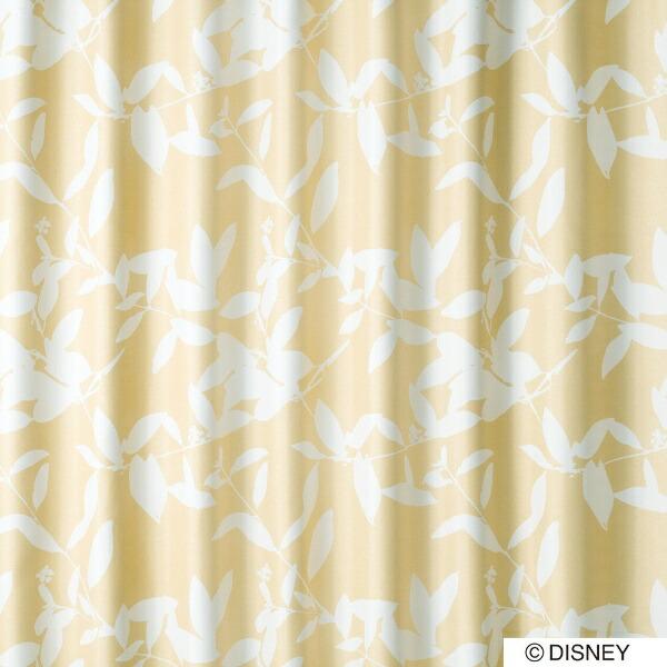 スミノエSUMINOEドレープカーテンミッキー/ブロードリーフ(100×135cm/ベージュ)【日本製】[生産完了品在庫限り][M1122100X135]