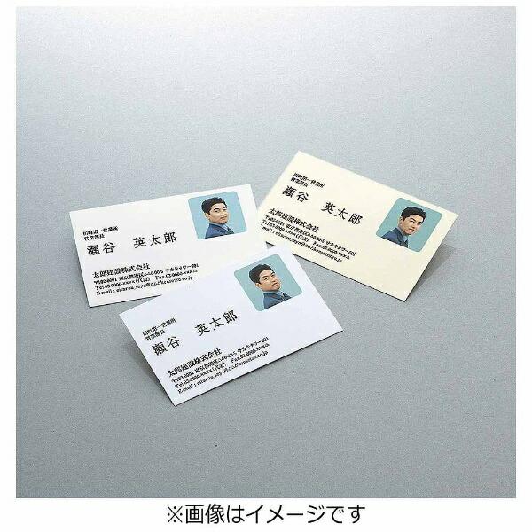 コクヨKOKUYO〔インクジェット〕名刺用紙クリアカット両面マット紙厚口100枚(A4サイズ10面×10シート)ナチュラル白KJ-VHA10W[KJVHA10W]【wtcomo】