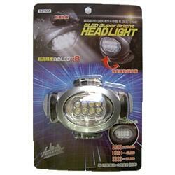 ヤザワYAZAWALZ03ヘッドライトブラック×シルバー[LED/単4乾電池×3]