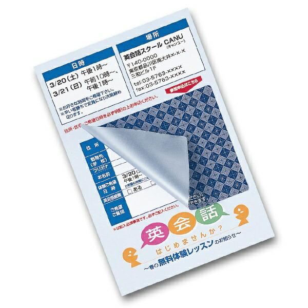 サンワサプライSANWASUPPLY貼り直しができる目隠しシール(ハガキサイズ2面・20シート)JP-HKSEC11[JPHKSEC11]