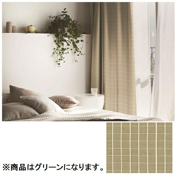 スミノエSUMINOEドレープカーテングリーユ(100×135cm/グリーン)【日本製】[G1034100X135]