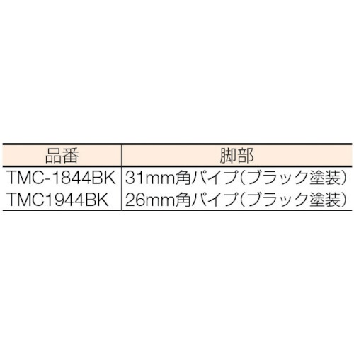 トラスコ中山ロビーチェア背付き1800X446X420H黒TMC1944BK【メーカー直送・代金引換不可・時間指定・返品不可】