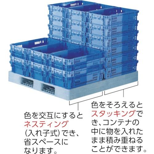 三甲サンコーSNコンテナーB#40ブルー/ブルーSNB40BLBL