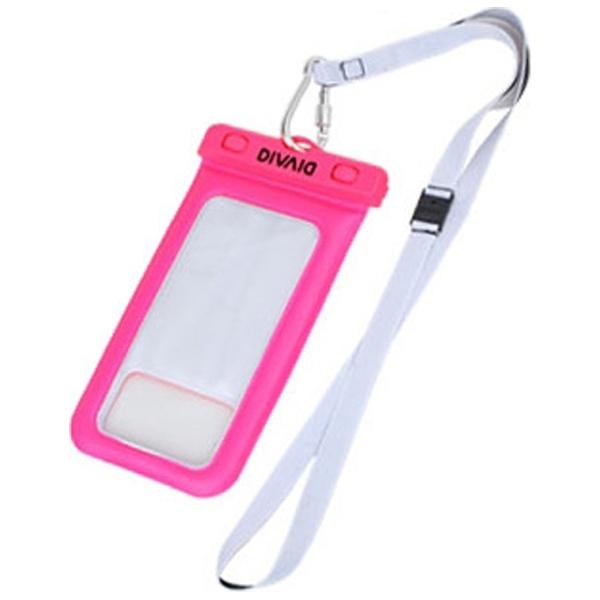 HAMEEハミィスマートフォン用[幅102mm/5.8インチ]DIVAIDフローティング防水ケースピンク