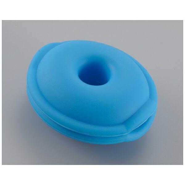 オーム電機OHMELECTRICイヤホン用コードリール(ブルー)AUD-P5853-A
