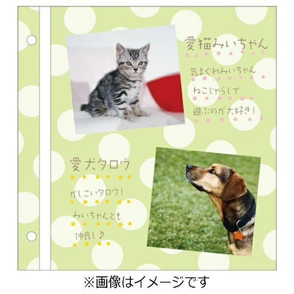 セキセイSEKISEIハーパーハウスカジュアルアルバム<ドット>フリー台紙タイプ(グリーン)XP-4310[XP4310]