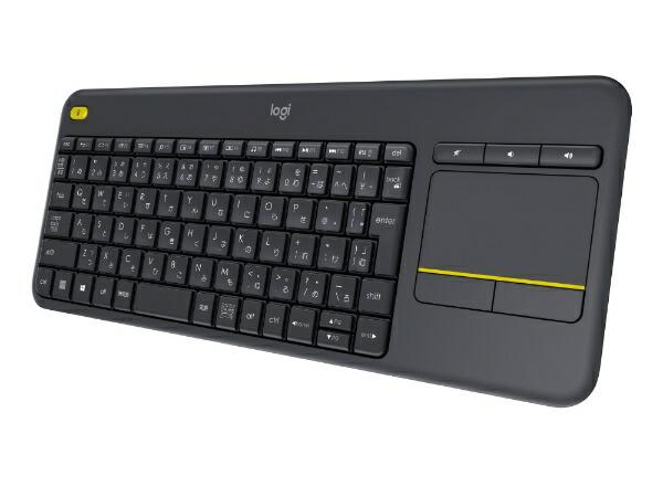 ロジクールLogicool【スマホ/タブレット対応】ワイヤレスキーボード[2.4GHzUSB・Android/Win/Chrome]ワイヤレスタッチキーボードk400Plusタッチパッド搭載(84キー・ブラック)K400pBK[K400PBK]