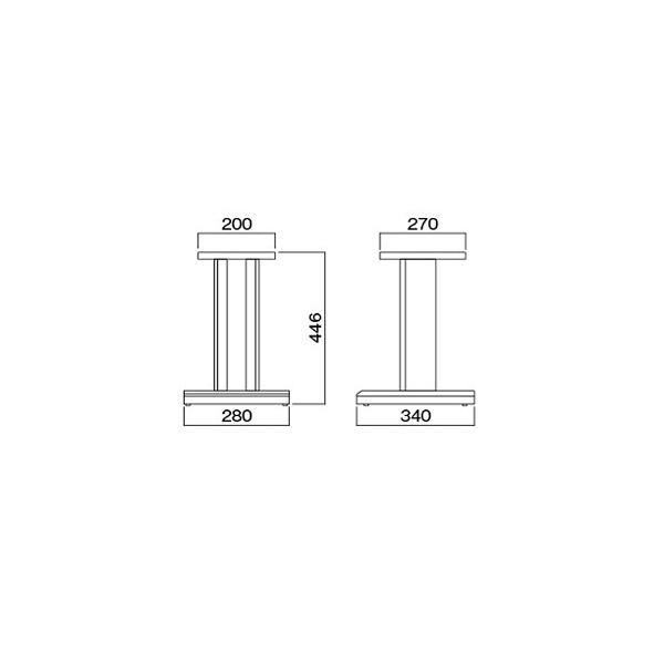 ハヤミ工産HayamiIndustry台型スピーカースタンド(2台1組)SB-521[SB521]