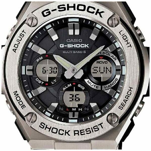 カシオCASIOG-SHOCK(G-ショック)「G-STEELMULTIBAND6(Gスチールマルチバンド6)」GST-W110-1AJF[GSTW1101AJF]【point_rb】
