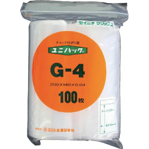 生産日本社SEISANNIPPONSHA「ユニパック」G-4200×140×0.04100枚入G4