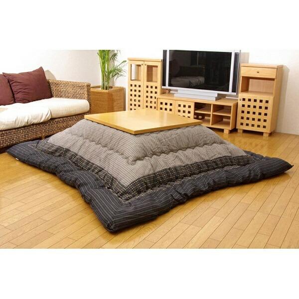 イケヒコIKEHIKO5110339こたつ布団YUKARI(ゆかり)ブラック[対応天板サイズ:約80×120cm/長方形]