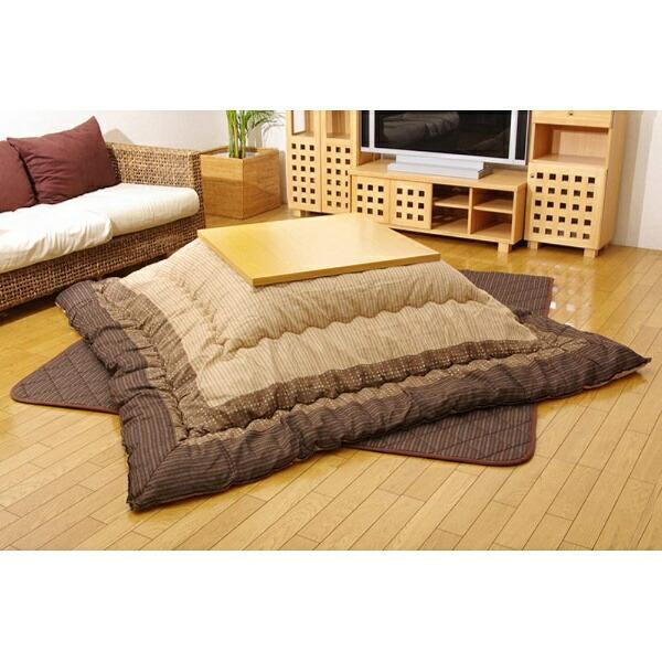イケヒコIKEHIKO5104870こたつ布団YUKARI(ゆかり)ブラウン[対応天板サイズ:約90×210cm/長方形][5104870]
