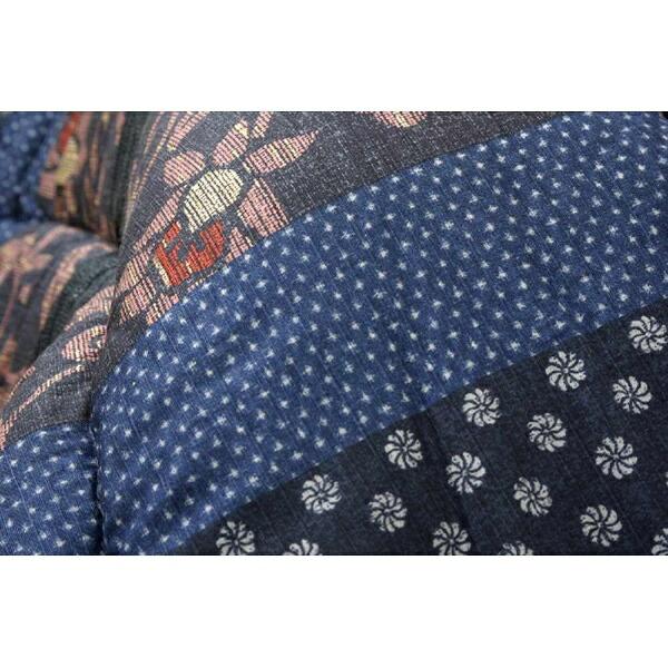イケヒコIKEHIKO5934550こたつ布団万葉(マンヨウ)ブルー[対応天板サイズ:約90×135cm/長方形][5934550]
