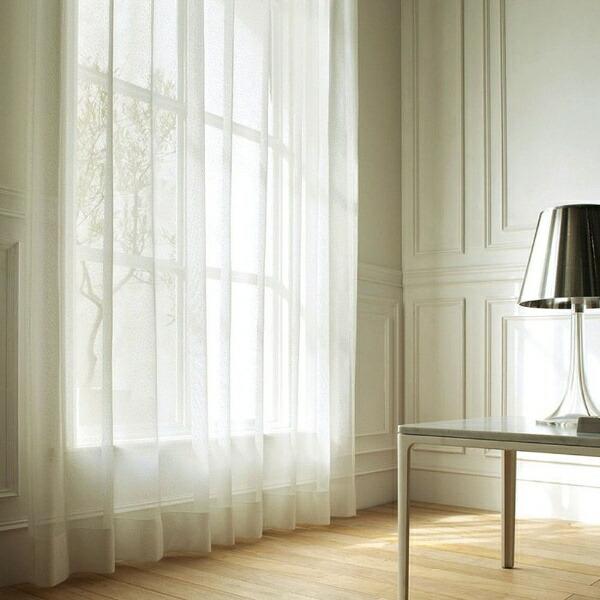 スミノエSUMINOEレースカーテンソルベ(100×176cm/ナチュラルホワイト)【日本製】[V1132100X176]