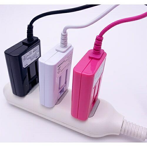 オズマOSMA【ビックカメラグループオリジナル】[microUSB]ケーブル一体型AC充電器(1.5m)ピンクBKS-ACSP13PN【point_rb】