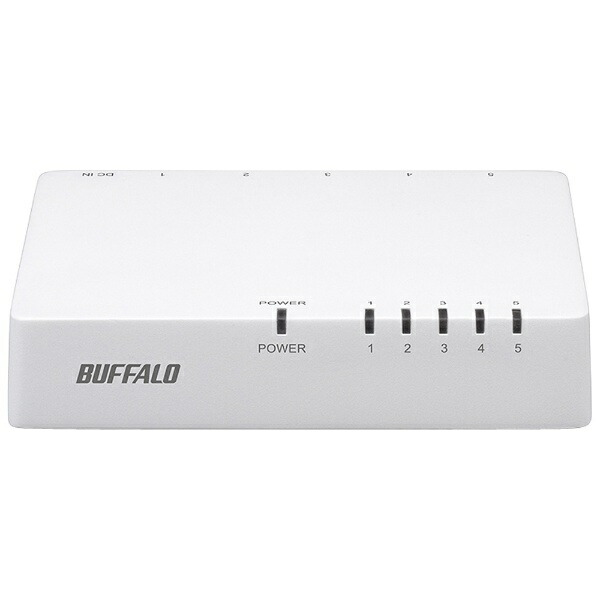 BUFFALOバッファロースイッチングハブ[5ポート・100/10Mbps・ACアダプタ]プラスチック筐体LSW4-TX-EP/DシリーズホワイトLSW4-TX-5EPL/WHD[LSW4TX5EPLWHD]