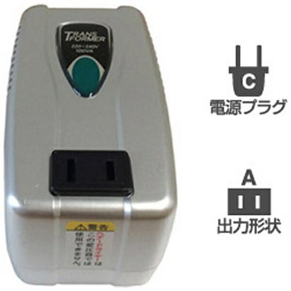 樫村KASHIMURA変圧器(ダウントランス)(220-240V⇒100V・容量100W)WT-53E[WT53E]