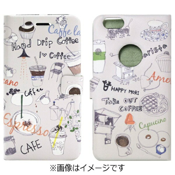 ROAロアiPhone6s/6用手帳型AmericanoDiaryHappymoriHM6635iP6S