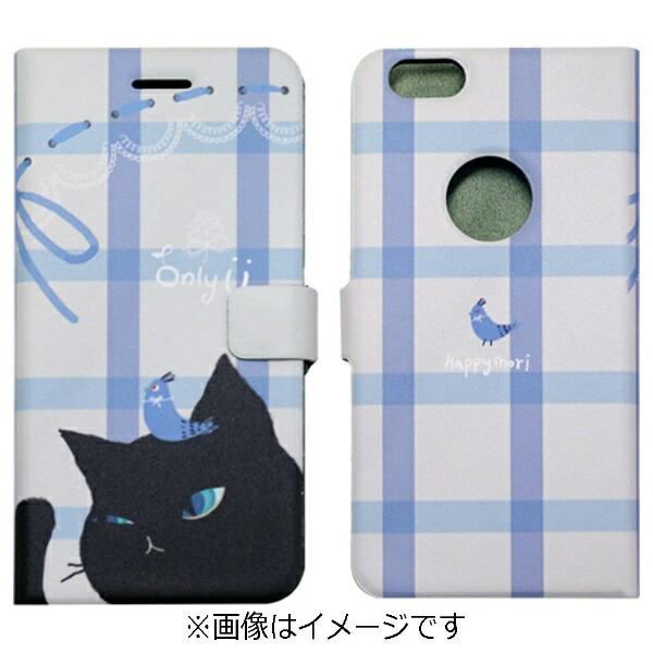 ROAロアiPhone6s/6用手帳型CatCoupleDiaryブラックHappymoriHM6639iP6S
