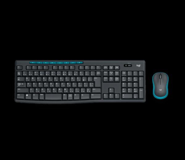 ロジクールワイヤレスキーボード[2.4GHzUSB・Win/Chrome]&マウスWirelessCombo(108キー・ブラック)MK275