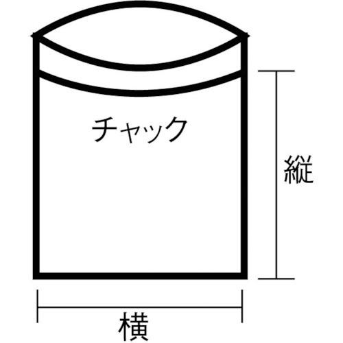 トラスコ中山チャック付ポリ袋(白枠付き)0.08mm厚480×340mmTCBWL8TM(1袋100枚)