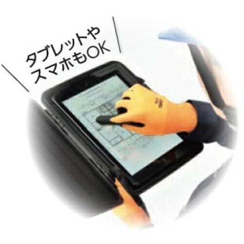 トラスコ中山液晶対応すべり止め付ニトリル手袋オレンジMTNGOM