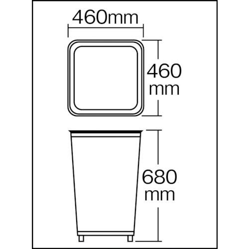 山崎産業(屋外用屑入)パークくずいれ80マルエス角型コンドル白YD68LIJ[103L]