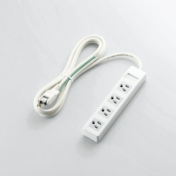 エレコムELECOM3ピンプラグ対応タップホワイトT-T1B-3425WH[2.5m/4個口/スイッチ無][TT1B3425WH]