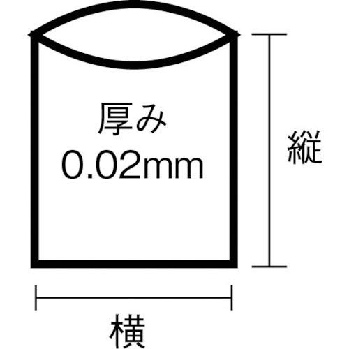 日本サニパックSANIPAKLT13スタンダートポリ袋13号(0.02)透明100枚LT13