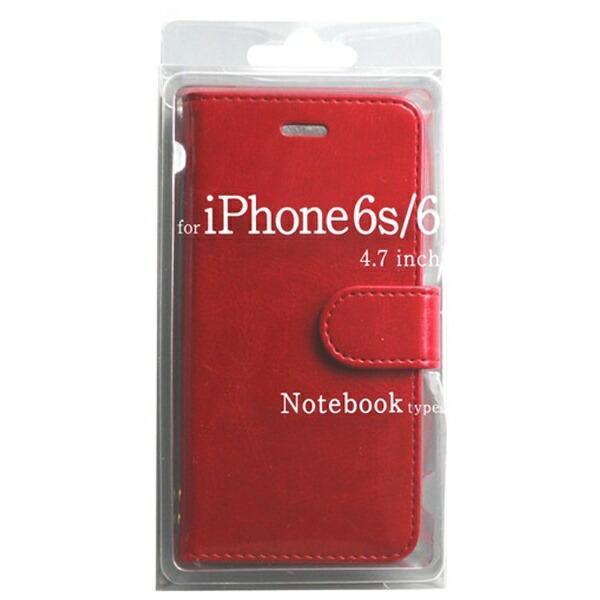 オズマOSMAiPhone6s/6用手帳型Notebooktypeノートブック型ケースレッドBJSL-IP6RD[BJSLIP6RD]