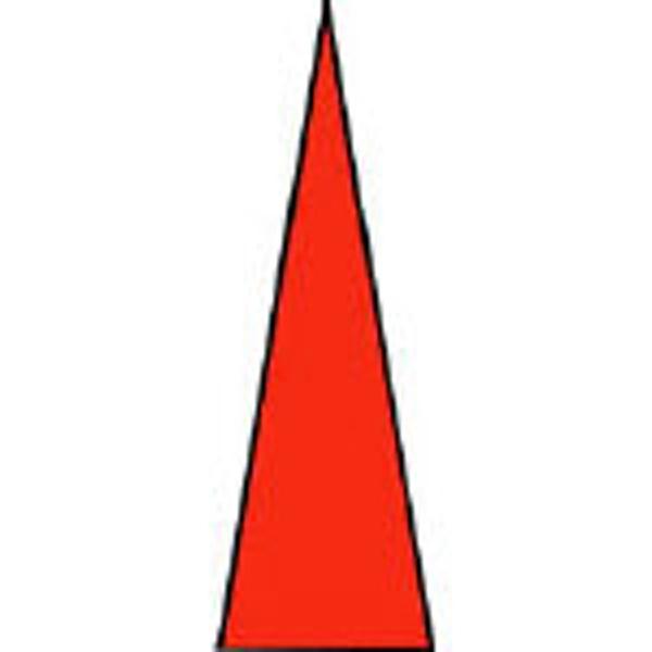 ユニットUNITゲージマーカー赤PPステッカー1シート100枚入44681